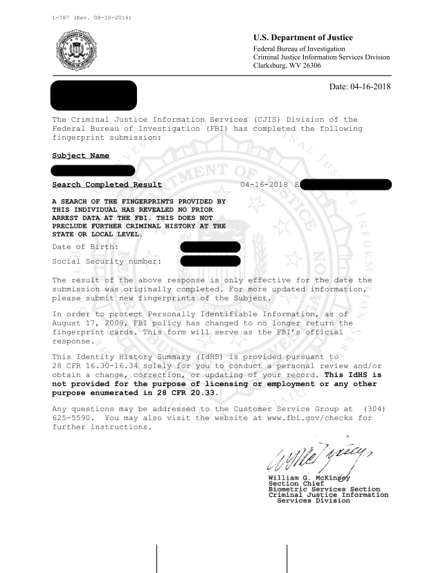 The Fbi Criminal Background Check And The Federal Us Apostille
